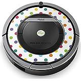 iRobot ルンバ Roomba 専用スキンシール ステッカー 870 871 875 876 880 885 対応 ラブリー 水玉 ドット カラフル 005208