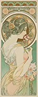 La Primevereヴィンテージポスター(アーティスト: Alphonse Mucha )フランスC。1899 9 x 12 Art Print LANT-64065-9x12