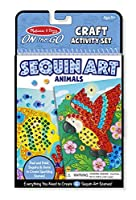Melissa & Doug On-The-Go Crafts Animals Sequin Art [並行輸入品]