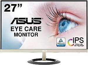 ASUS フレームレス モニター VZ279H 27インチ IPS 薄さ7mmのウルトラスリム ブルーライト軽減 フリッカーフリー HDMI,D-sub スピーカー