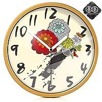 18-AnyzhanTrade 壁掛け時計サイレントムーブメント壁掛け時計ホームオフィスの装飾用リビングルームベッドルームとキッチン時計壁アートフォームパターンクリエイティブクォーツ時計 (Color : The Gold Metal Box, サイズ : 12 In)