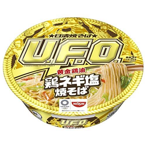 日清焼そばU.F.O(黄金鶏油 鶏ネギ塩焼そば)の通販の画像