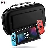 IVSO Nintendo Switch ケース, Nintendo Switchハンドバッグ ニンテンドースイッチビデオゲームコンソール用カバー Nintendo Switch専用収納バッグ EVA ケース -- nintendo switchキャリングケース(ブラック?)