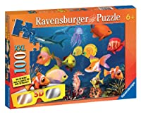 Fascinating Underwater World 100 Piece Cromadepthパズルwith 3d Glasses