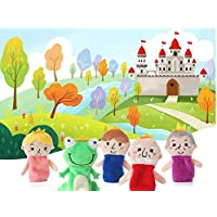 ychoice面白いFinger Puppets Toy 5 PcsソフトEducational Hand Puppetセットストーリー人形おもちゃfor赤ちゃんand Toddlers ( Frog Prince )