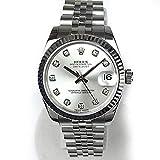 [ロレックス]ROLEX 腕時計 デイトジャスト ボーイズ ホワイトゴールド ダイヤ10P 新品仕上済 ランダム ルーレット刻印 178274G ボーイズ 中古