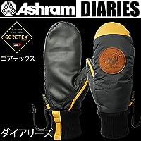 アシュラム アシュラム スノーボード ミトングローブ ゴアテックス  DIARIES ダイアリーズ ブラック Ashram glove 17-18  2018 メンズ スノーボード グローブ【C1】