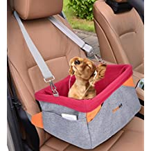 Dog Car Seat, Legendog Pet Booster Portable Travel Pet Car Seat Carrier for Dogs & Cats, Waterproof Pet Booster Carrier with Cushion & Adjustable Strap