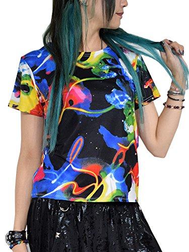 (エーシーディーシーラグ) ACDCRAG サイケ チビTシャツ Tシャツ 半袖 派手 サイケデリック サイケ柄 原宿系 ファッション ダンス衣装 ヒップホップ レディース キッズ