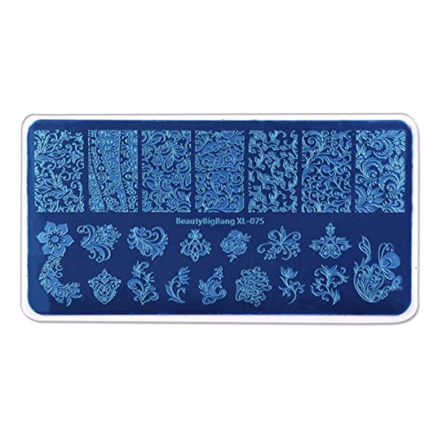 シネマ研究所先にRadiya ネイルプレートスタンピング花とつる柄ナチュラル系春夏に最適イメージプレートスタンプネイルプレートネイルステンシルケース付き長方形スタンピンクネイルプレートアートマニキュアツール