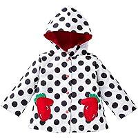 Inlefen Kids Girls Raincoat Waterproof Jacket and Rainproof Hooded Outerwear