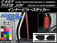 AP インナーピラーステッカー カーボン調 キャスト アクティバ/スタイル/スポーツ/ピクシスジョイ C/F/S メタリックブルー AP-CF803-MBL 入数:1セット(4枚)