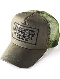 ALPHA INDUSTRIES Inc (アルファインダストリーズ) 刺繍 ワッペン メッシュキャップ 帽子 メンズ キャップ MA-1 ミリタリー