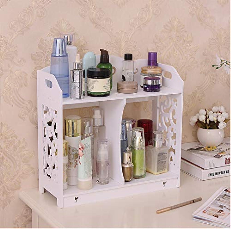 デスクトップ化粧品収納ボックスダブルバスルームトイレシンクラックドレッシングテーブル収納ボックス