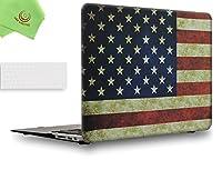 "UESWILL 2in1 スムーズソフトタッチ マットフロストハードシェルケース MacBook Air用シリコンキーボードカバー + マイクロファイバークリーニングクロスが付属 MacBook Air 13"" UES02F13A2-25"