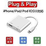Lightning HDMI ライトニング 変換 IMICHAEL Lightning Digital AVアダプタ iphone ipad ipod に対応 最新のシステム