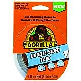 Gorilla 両面テープ 1.41インチ x 8ヤード グレー (1パック)