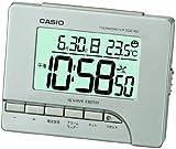 CASIO (カシオ) 電波デジタル目覚まし時計 温度表示 シルバー DQD-80J-8JF DQD-80J-8JFの写真