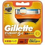 ジレット フュージョン 5+1 電動タイプ 髭剃り カミソリ 男性 替刃8個入