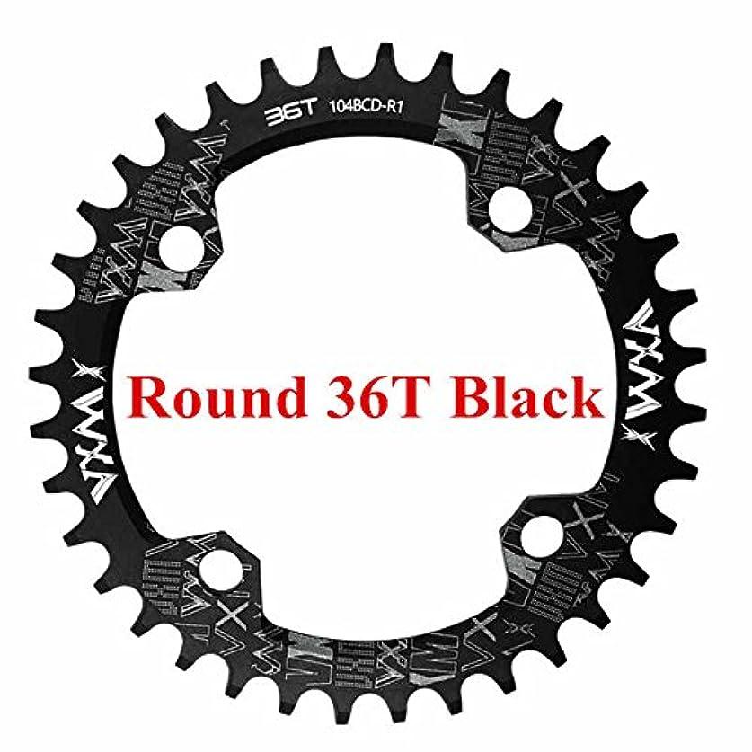 三番極地音Propenary - 自転車104BCDクランクオーバルラウンド30T 32T 34T 36T 38T 40T 42T 44T 46T 48T 50T 52TチェーンホイールXT狭い広い自転車チェーンリング[ラウンド36T...