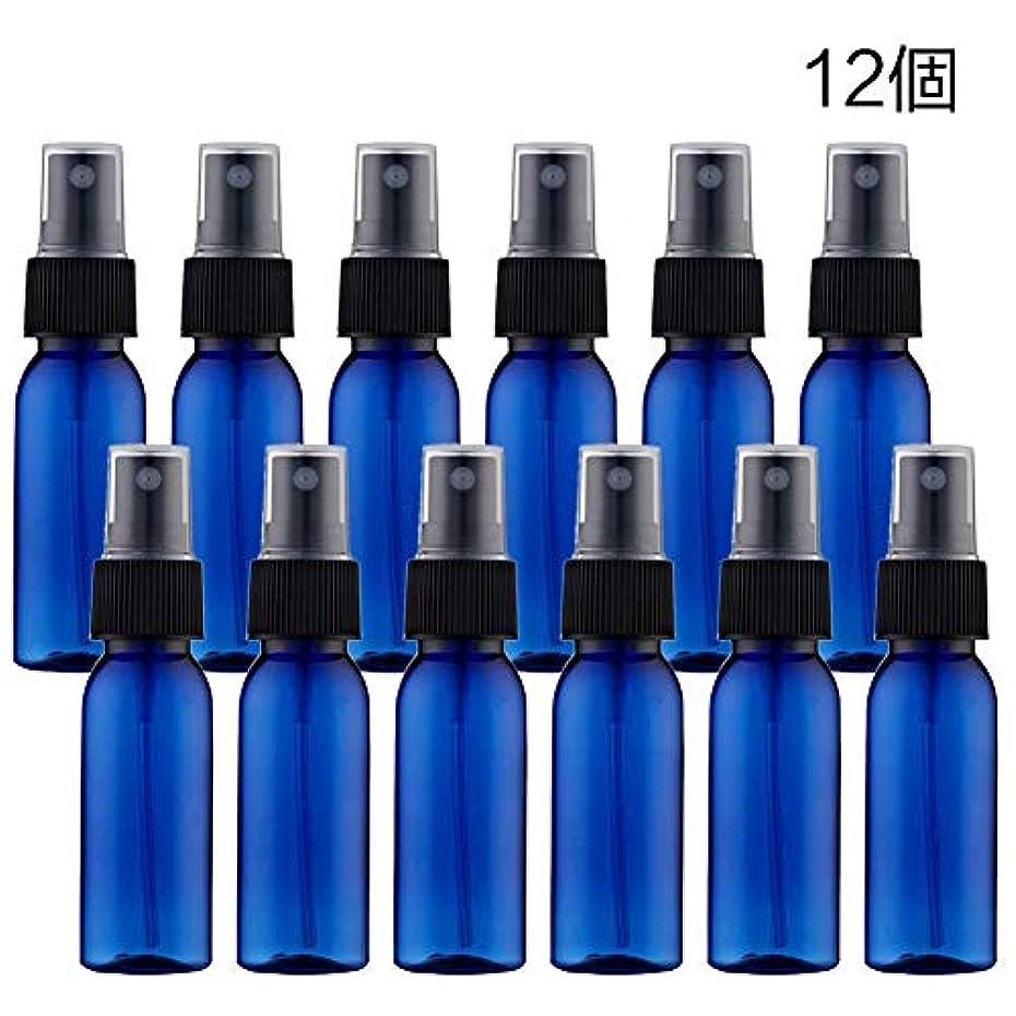 マングル奇妙なパテスプレーボトル 詰替ボトル 遮光瓶 小分けボトル プラスチック容器 空容器 霧吹き30ml ブルー 12本セット