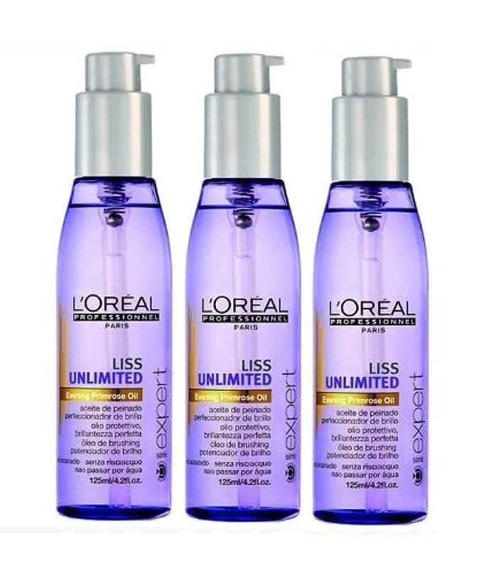 ポスター原告八百屋さんLoreal Liss Unlimited entspannendes Öl 3 x 125 ml Serie Expert Evening Primrose Oil Nachtkerzenöl
