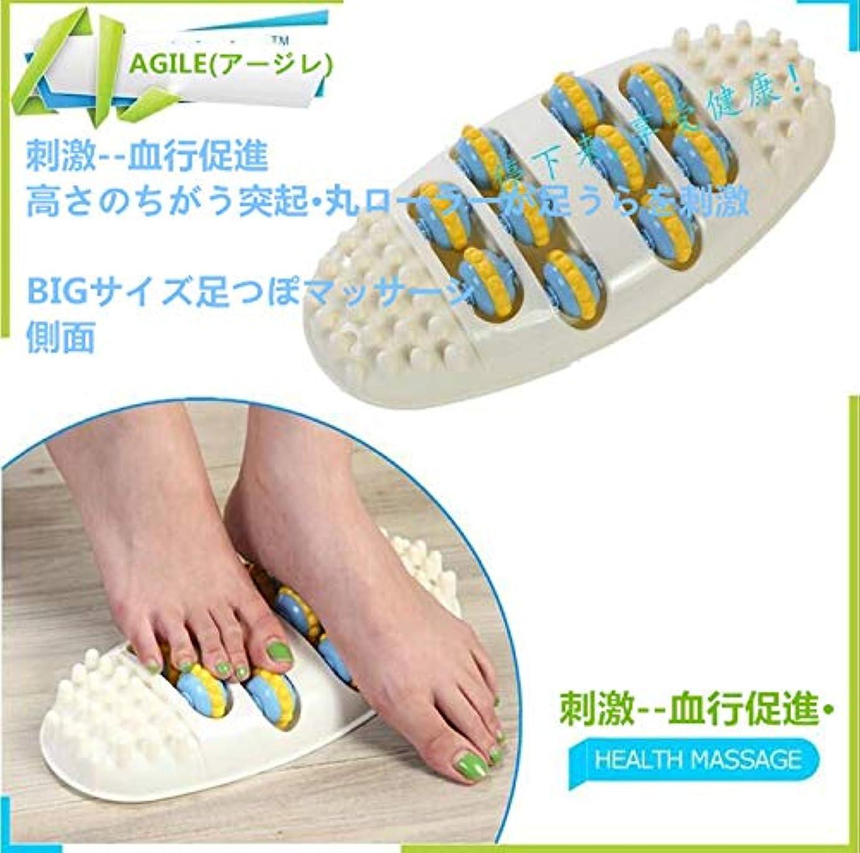 サイズ柔らかい足全体に簡単に健康維持 足つぼマッサージ BIGサイズ 足 踏み 足裏 刺激 血行促進 スポーツオアシス フィットネスクラブがつくった ほぐしローラーFoot(フット)足裏 ふくらはぎ 二の腕 (ホワイト)