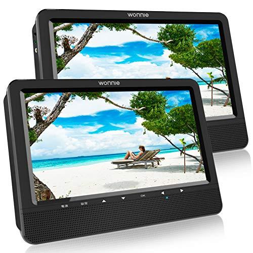 【2台セット】ヘッドレストモニター DVDプレーヤー 10.5インチ 車載 リージョンフリー CPRM SD AV USB対応 三つ給電式 後席モニター 5時間再生可能 メーカー3年保証
