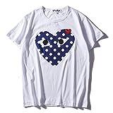 コム デ ギャルソン Comme des Garcons Play Tシャツ 男女兼用 トップス T-Shirt 半袖 夏 メンズ レディース ロゴ 刺繍 プリント [並行輸入品]