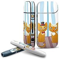 IQOS 2.4 plus 専用スキンシール COMPLETE アイコス 全面セット サイド ボタン デコ アニマル 猫 キャラクター イラスト 004625