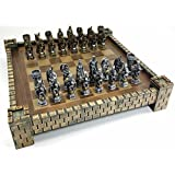 King Arthur Camelot Knights Medieval Times Dragon Fantasy Chess Set W Castle Board 17 by HPL [並行輸入品]