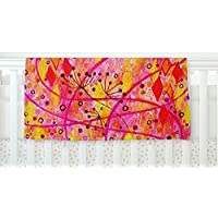 KESS InHouse Ebi Emporium Into the Fall Orange Pink Fleece Baby Blanket 40 x 30 [並行輸入品]