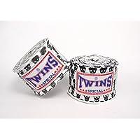 TWINS(ツインズ) バンテージ ホワイト スモールスカル 伸縮タイプ 2個1セット ムエイタイ ボクシング MMA 格闘技 グローブ