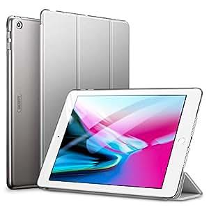 ESR 新しい iPad 9.7 2018/2017 ケース 超軽量 極薄 レザー 三つ折スタンド オートスリープ機能 スマートカバー 全10色 2017年と2018年発売の 新しい9.7インチ iPad 対応(モデル番号A1822、A1823、A1893、A1954)(グレー)