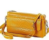 (ボンヌ シャンス)Bonne Chance レディース 本革 ポシェット 斜めがけバッグ スマホバッグ 財布 015 yellow
