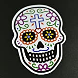 メキシコ シュガースカル(ドクロ)ステッカー(シール)|メキシカンスカル|カラベラ|死者の日