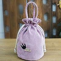 KTAIS ギフトバッグシリンダー小さな布バッグバンチ口コスメティックバッグキャンバスバッグ (Color : Pink)