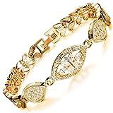 MAX World ブレスレット AAAクリスタル 18金 ゴールド フィルド ジュエリー Czダイヤモンド 18K Gold Filled レディースブレスレット ゴールデン小麦 bracelet women