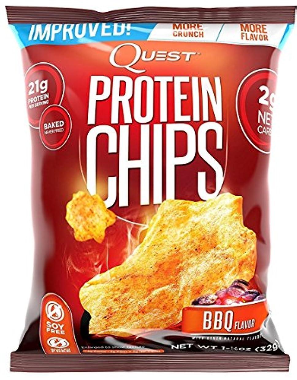 本体スローではごきげんようプロテイン チップス(Protein Chips) バーベキュー味 8袋セット [並行輸入品]