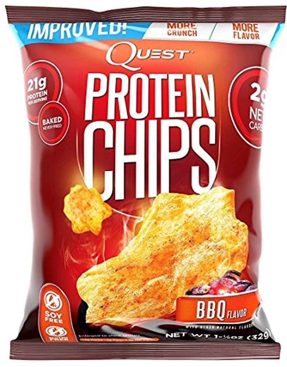 ピカソにはまってクリエイティブプロテイン チップス(Protein Chips) バーベキュー味 8袋セット [並行輸入品]