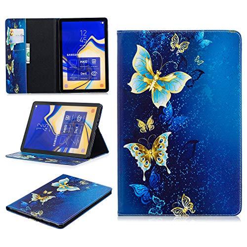 Ratesell Galaxy Tab S4 10.5 2018ケース 財布ケースカバー PUレザー マグネット式 フリップフォリオ かわいいスタンド 自動スリープ/ウェイク Samsung Galaxy Tab S4 10.5 SM-T830 (Wi-Fi); SM-T835 (LTE) M-F-LEAT835-GOLDDIE