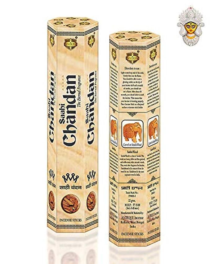 復活する真剣に勤勉なSAAHI CHANDAN Precious Sandal Wood Fragrance Agarbatti (Moisture Proof Pack of 12)