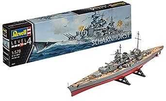 ドイツレベル 1/570 ドイツ戦艦 シャルンホルスト プラモデル 05037