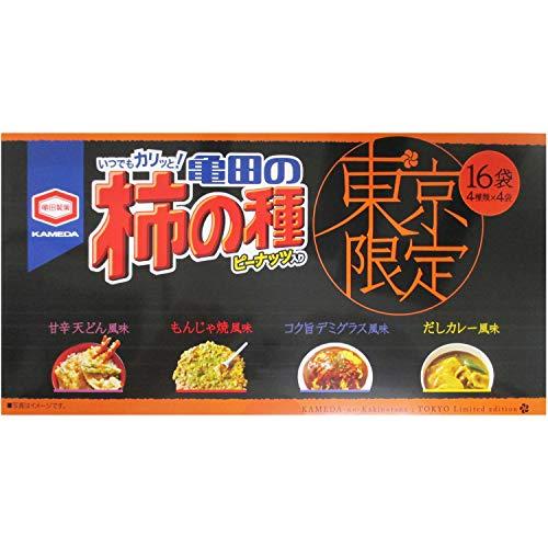 東京限定 亀田のお土産柿の種 4種限定 16袋