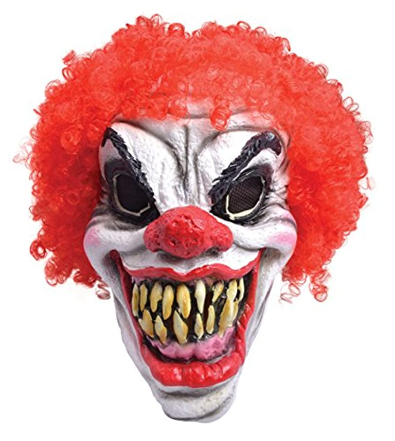 葬儀稚魚南西Bristol Novelty Horror Clown Foam + Red Hair. Rubber Masks Mens One Size - Red/White
