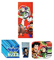Disney Pixar Toy Story Birthday Party Supplies Pack Bundle Kit Including Plates Cups Napkins and Tablecover - 8 Guests [並行輸入品]