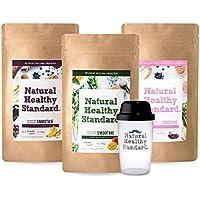 Natural Healthy Standard. 選べるスムージー3袋セット マンゴー アサイーバナナ 乳酸菌ベリーヨーグルト 160g×3袋