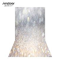 Andoer 1.5 * 0.9m/4.9 * 3.0ft 背景布 撮影背景 写真背景 キラキラスポット 画像 DSLRカメラ用 子供新生児 結婚式 写真 スタジオビデオ用