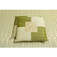 純国産 日本製 捺染返し い草座布団 グリーン 約55×55cm×2P 【デザイン家具】