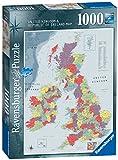 1000ピース ジグソーパズル  地図(イギリスとアイルランド) Britain & Ireland  (70 x 50 cm)